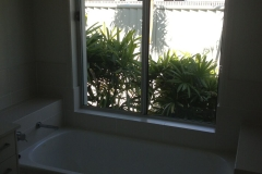 BEFORE bathroom window Opaque Film